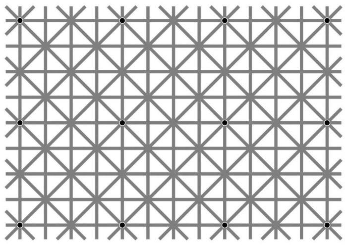 Оптическая иллюзия: 12 точек, которые невозможно увидеть