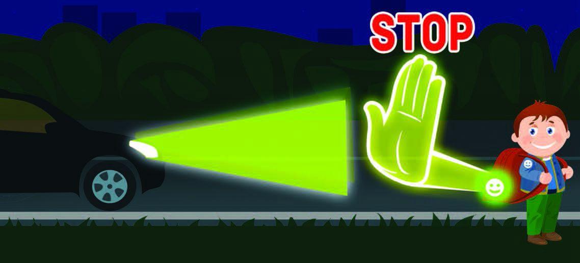 ГАИ напоминает пешеходам о необходимости обозначить себя световозвращающими элементами