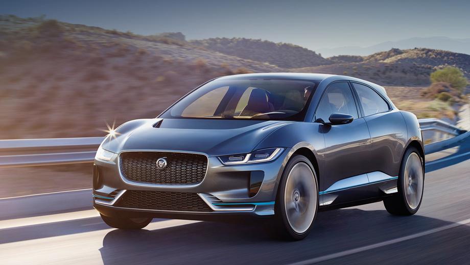 Электромобиль встанет на конвейер в 2018 году, говорят, в почти неизменном виде. Не удивлюсь, если останутся даже 23-дюймовые колеса: уже сейчас на F-Pace можно заказать 22-дюймовые.