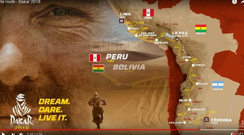 Организаторы «Дакара-2018» опубликовали видео маршрута ралли-рейда