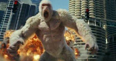 Дуэйн Скала Джонсон против гигантского монстра! Неистовый трейлер «Рэмпейдж»