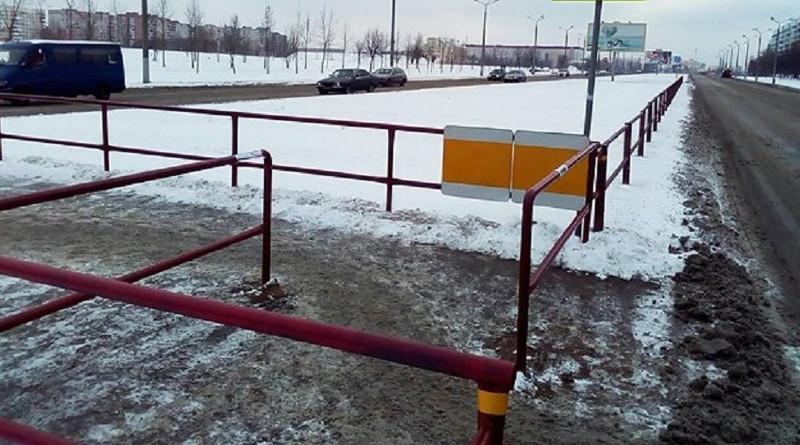 Фотофакт: экспериментальный пешеходный переход появился в Витебске