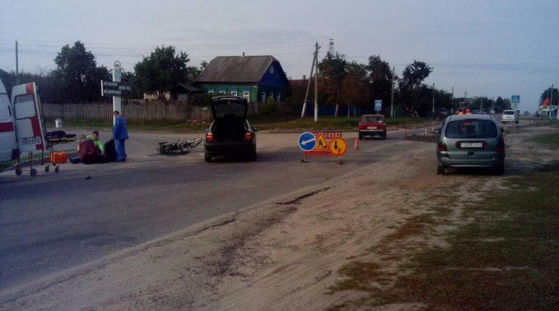 18 сентября вОзерщине произошло ДТП. Водитель мопеда госпитализирован