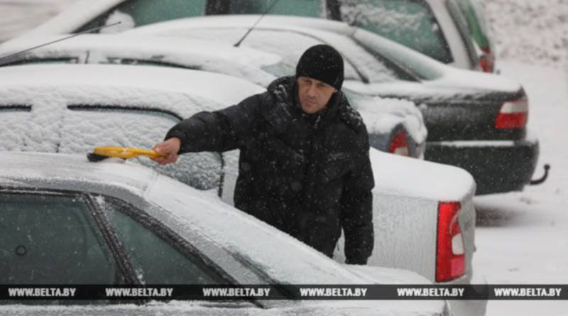 Первый снег привел кросту ДТП вГомельской области