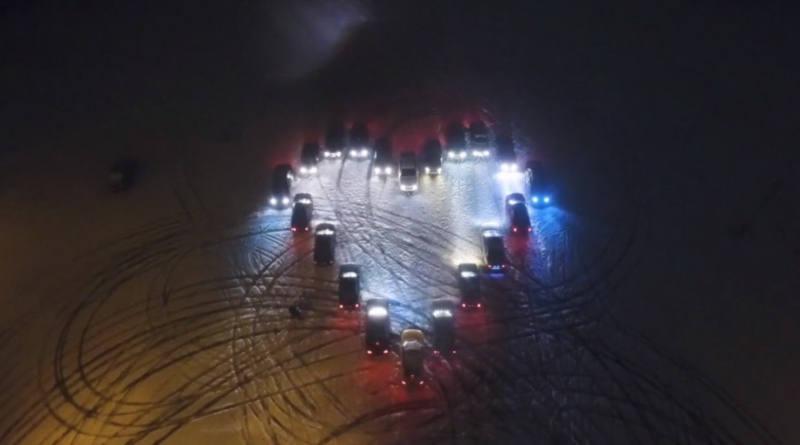 Сердце валит боком. Минские фанаты Audi поздравили автомобилистов с14 февраля