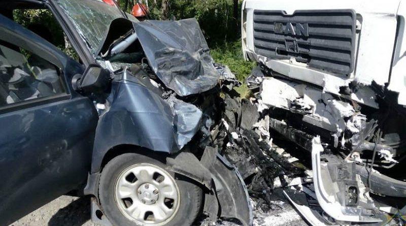 Легковушка влетела вгрузовик под Светлогорском: двое пострадавших