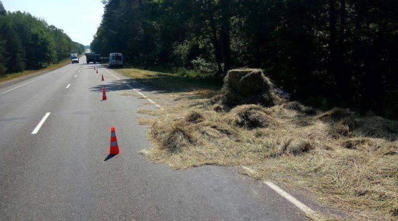 В Речицком районе микроавтобус столкнулся смотоблоком. Водитель ипассажир мотоблока госпитализированы